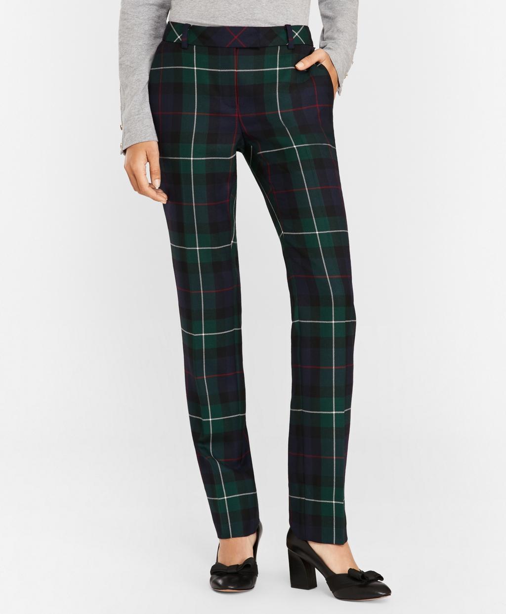 d4613eda5f Tartan Wool Twill Pants - Brooks Brothers