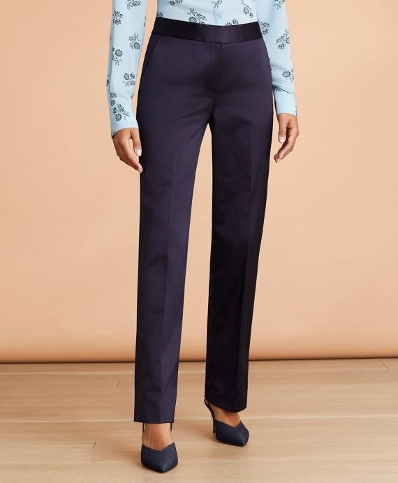Satin Wide-Leg Pants Blue