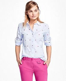 Pinwheel Embroidered Jacquard Shirt