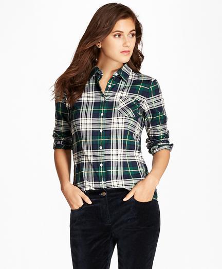 Black Watch Brushed Cotton Twill Shirt