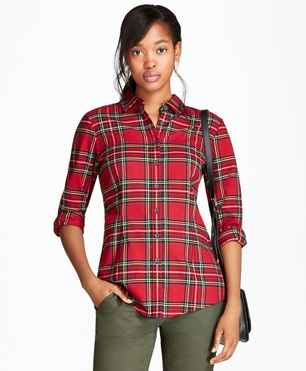 Cotton Tartan Flannel Shirt