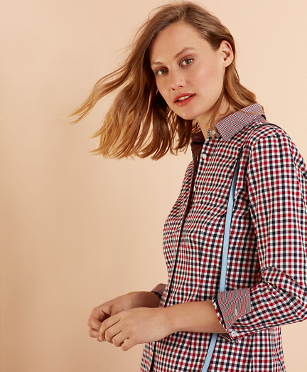 Checked Brushed Cotton Twill Shirt