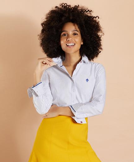 Striped Supima® Cotton Oxford Shirt