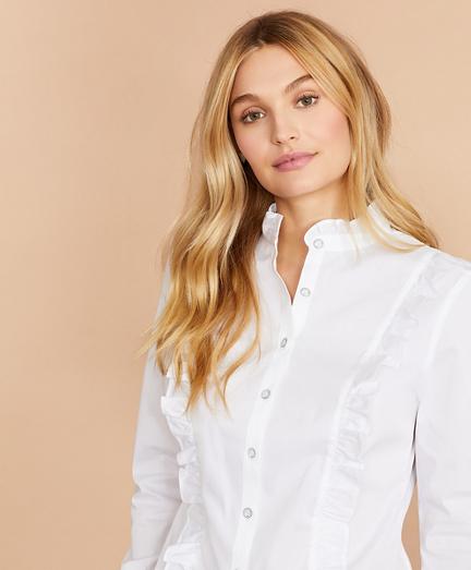 Ruffled Poplin Shirt