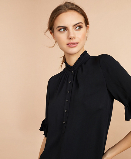 Crepe Ruffled Blouse