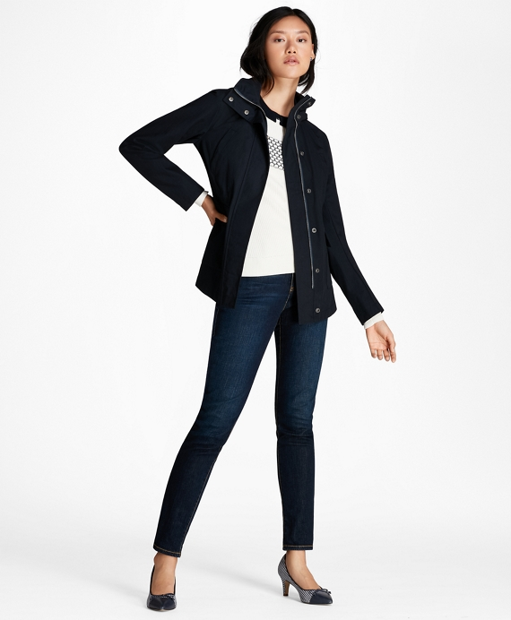 Water-Repellent Poplin Jacket Navy