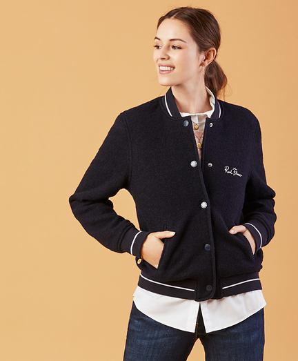 Wool-Cotton Varsity Jacket