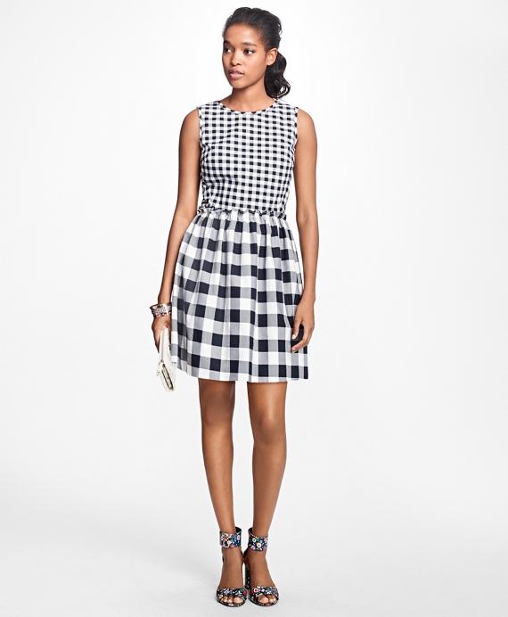 Sleeveless Stretch-Cotton-Twill Dress Navy