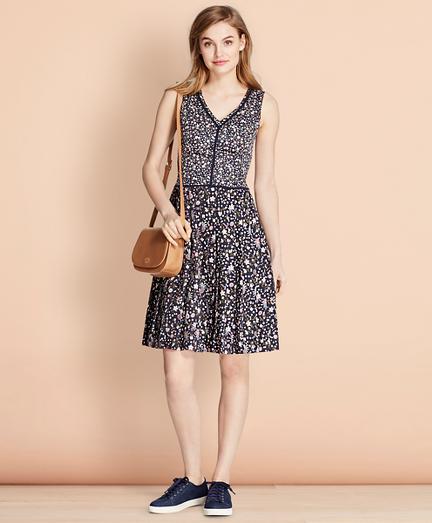 Floral-Print Cotton Sateen Dress