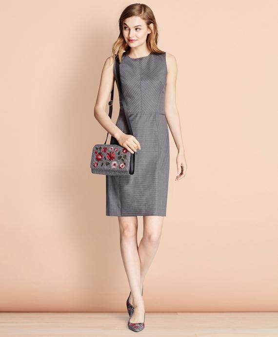 95cbd83495 Pinstripe Stretch Wool Sheath Dress - Brooks Brothers