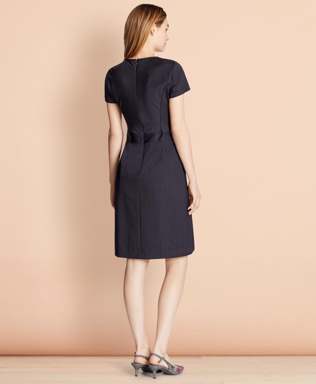 3abf523c64 Pinstripe Stretch Wool Dress - Brooks Brothers