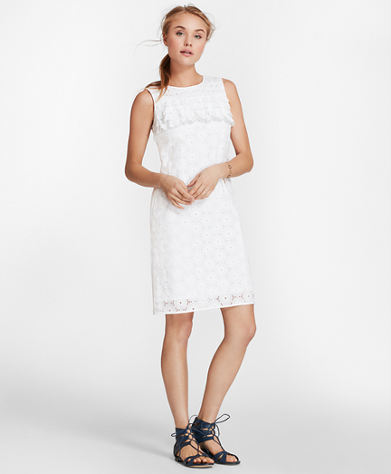 Cotton Eyelet Shift Dress