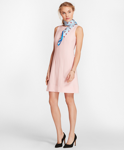Wool-Blend Twill Shift Dress