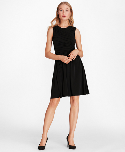 Brooksbrothers Ruched Jersey Dress