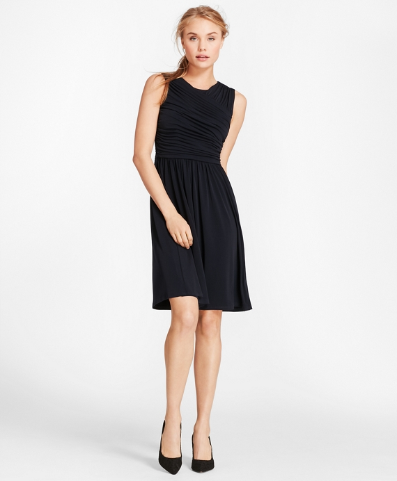 Ruched Jersey Dress by Brooks Brothers