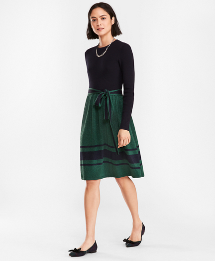 Shimmer Wool-Cotton Sweater Dress