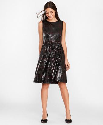 Sequined Plaid Dress