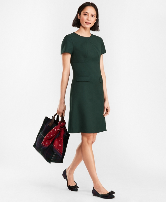4a8c7b98b9 Double-Faced Stretch Wool Dress - Brooks Brothers