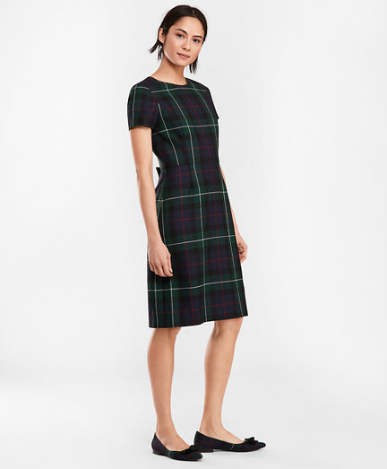 Tartan Wool Twill A-Line Dress