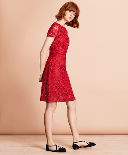 Brooksbrothers Floral Lace Dress