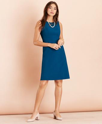 Wool-Blend Twill Dress