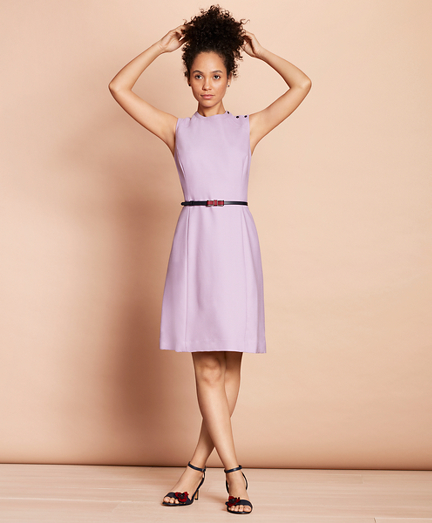 Stretch-Wool A-Line Dress