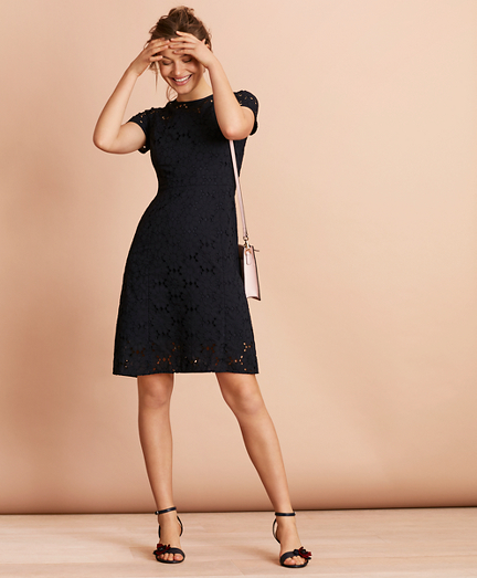 Floral Cotton Eyelet Dress