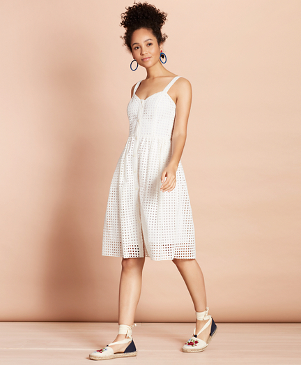 Brooksbrothers Cotton-Blend Eyelet Dress