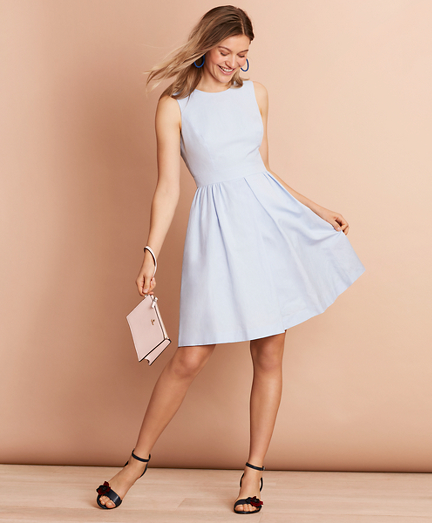 Irish Linen-Cotton A-Line Dress
