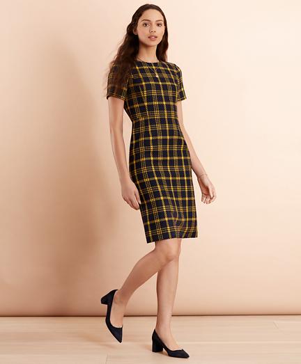Plaid Wool-Blend Sheath Dress