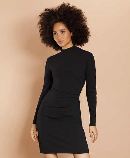 Crepe Jersey Ruched Sheath Dress