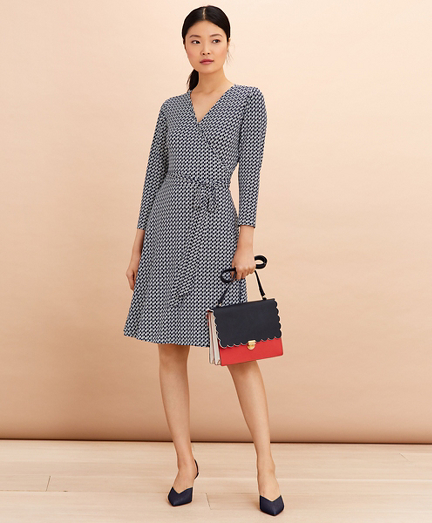 Logo-Print Jersey Wrap Dress