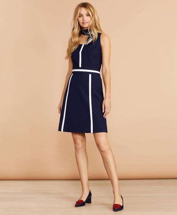 Color-Block Dress Blue