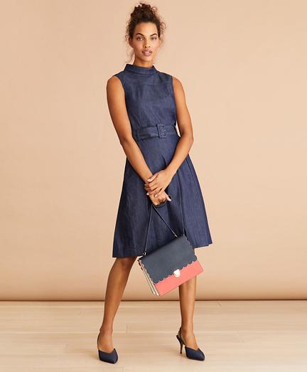 Denim Pleated Dress
