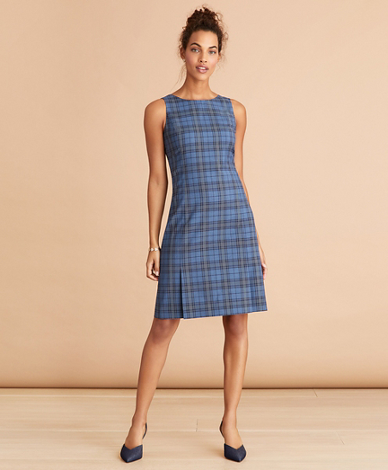Tartan Wool Shift Dress