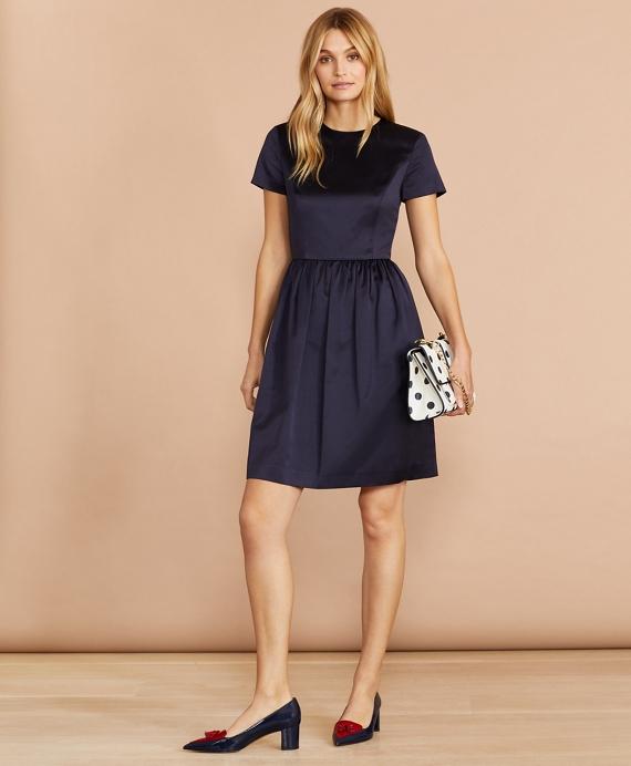 Satin Dress Blue