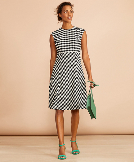 Gingham Boucle Dress