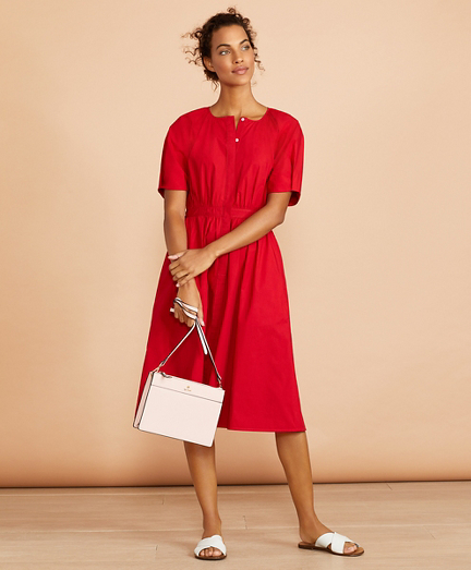 Stretch Cotton Shirt Dress