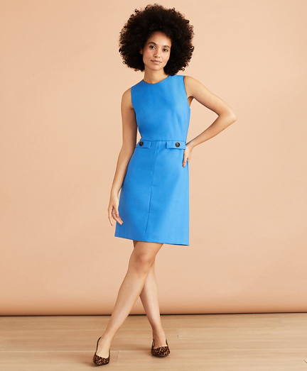 Twill Shift Dress