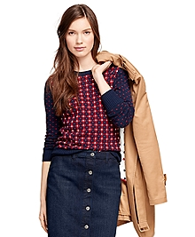 Jacquard Floral Sweater