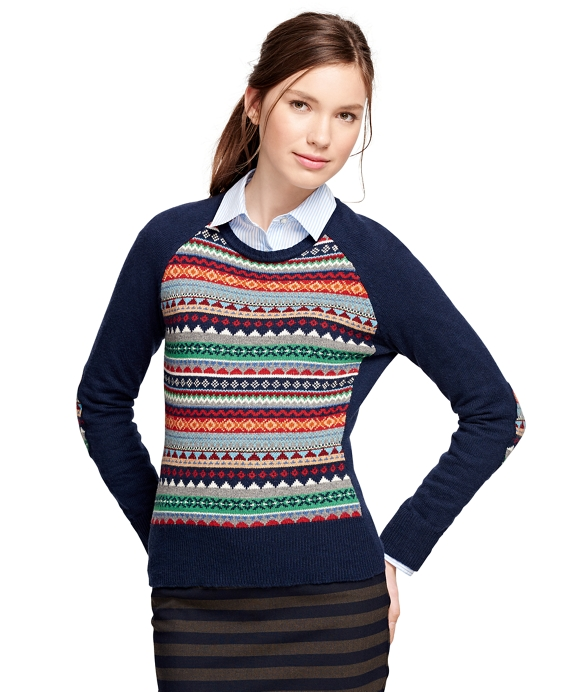 53d1231ca6d1 Women s Cotton Blend Raglan Fair Isle Sweater