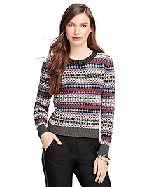 Cotton Fair Isle Crewneck Sweater