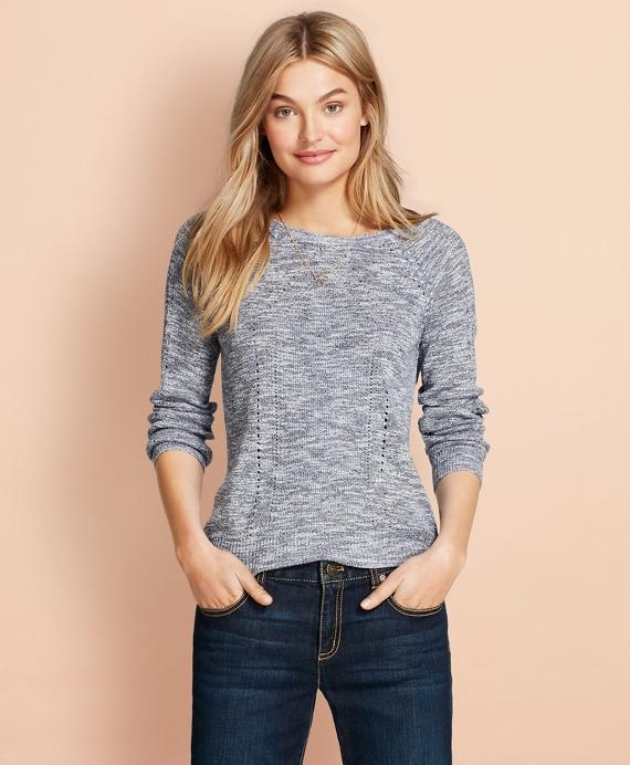 Pointelle Sweater Navy