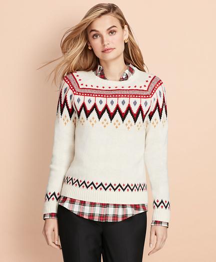 Merino Wool-Blend Fair Isle Sweater