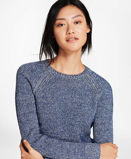Marled Cotton-Blend Sweater