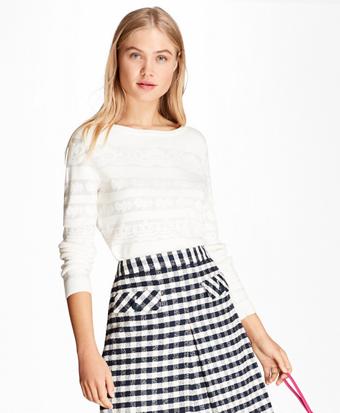Floral Jacquard Cotton Sweater
