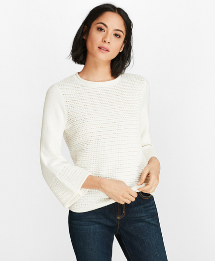 Crochet Bell-Sleeve Sweater