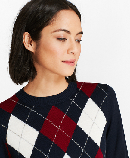 Merino Wool Argyle Sweater