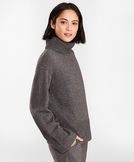 Merino Wool-Alpaca Turtleneck Sweater