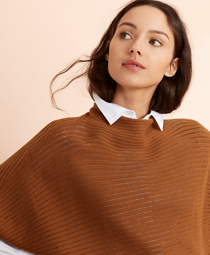 Cotton Pointelle Dolman Sweater